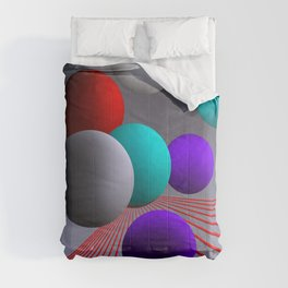 converging lines and balls -2- Comforters
