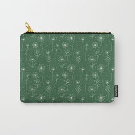 Daisies pattern in green field Carry-All Pouch