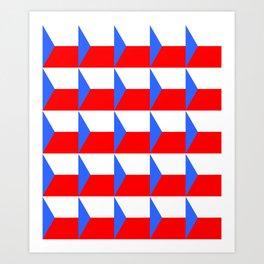 flag of Czech 3 -Czechia,Česko,Bohemia,Moravia, Silesia,Prague. Art Print