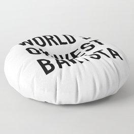 World's Okayest Barista Black Typography Floor Pillow