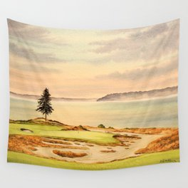 Chambers Bay Golf Course 15th Hole Wall Tapestry