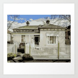 Melbourne Double Fronted Victorian  Art Print