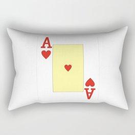 casino cards game ace of hearts Rectangular Pillow