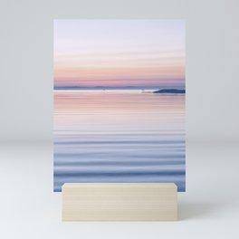 Pastel ripples sea and sky Mini Art Print