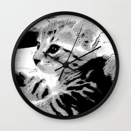 Sweet Kitten Wall Clock