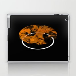 Collusion - Abstract in black, gold and white Laptop & iPad Skin
