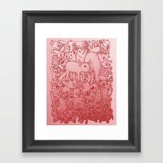 Pig Pile-Up! (splash-0-color edition) Framed Art Print