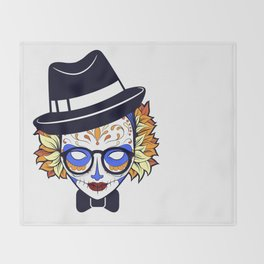 Mad Hatter Sugar Throw Blanket