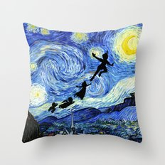 Peter Pan Starry Night Throw Pillow