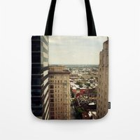 philadelphia Tote Bags featuring Philadelphia  by Kameron Elisabeth