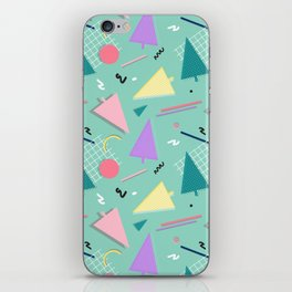 Memphis Xmas #society6 #retro #xmas iPhone Skin