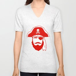 Who wants to be a Pirate?!? Unisex V-Neck