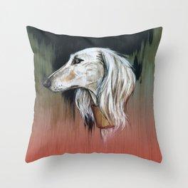 Saluki I - Illustrious dogs. Throw Pillow