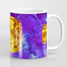 Golden Topaz Gems & Amethyst-Ultra-Violet Purple Color Coffee Mug
