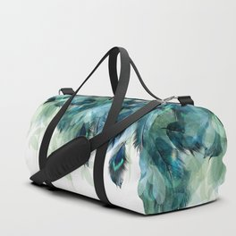 DREAMY FEATHERS & LEAVES Duffle Bag