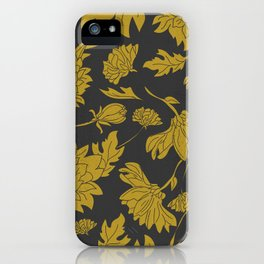 Hand drawn automnal flowers iPhone Case