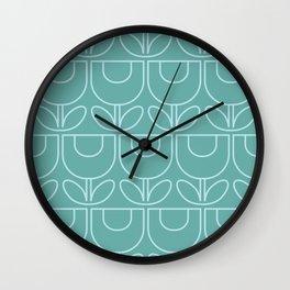 MCM Tulip Aqua Wall Clock