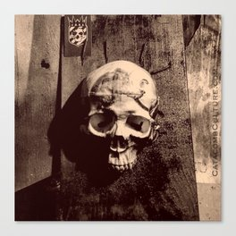 Catacomb Culture - Skull and Paint Canvas Print