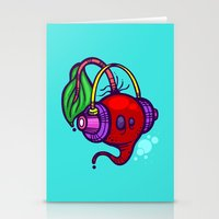 fat Stationery Cards featuring Fat Beets by Artistic Dyslexia