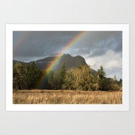 Beacon Rock Rainbow Nature Photography Art Print