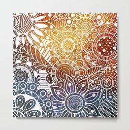Sunset Doodle Metal Print