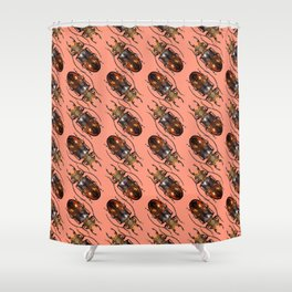 Rubyfire Stag Beetle Shower Curtain