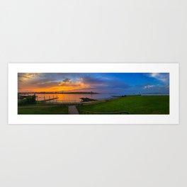 July Sunset at Bug Light (5) Art Print