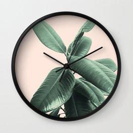 Ficus Elastica #25 #SummerVibes #foliage #decor #art #society6 Wall Clock