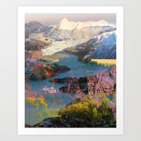 tchmo Art Prints featuring Untitled 20140417o (Landscape) by tchmo
