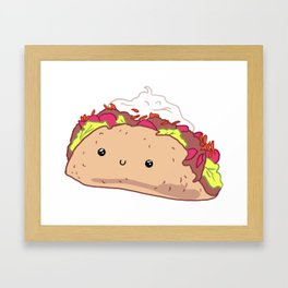 Happy Taco Framed Art Print