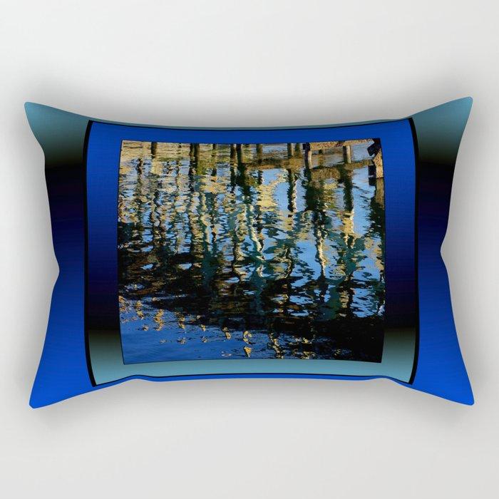 little lost grebe (square) Rectangular Pillow