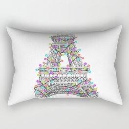 Paris Eiffel Tower Holiday Lights Multi Rectangular Pillow