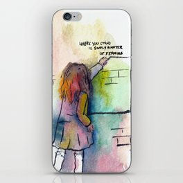 Where you stand is simply a matter of framing iPhone Skin