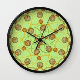 Spiral Round Green Wall Clock