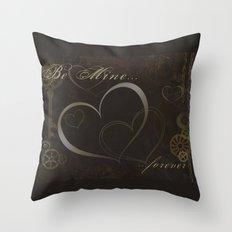 Steampunk Valentine Throw Pillow