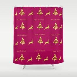 Feliz Navidad 1 Shower Curtain