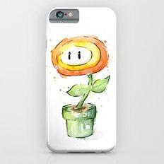Fireflower Mario Watercolor Slim Case iPhone 6s