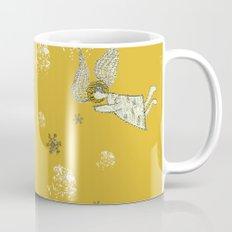 Winter Angels in Gold Mug