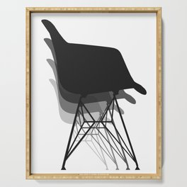 Eames Style Chair Abstract Serving Tray