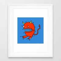 diablo Framed Art Prints featuring Huevo diablo by sitnuna