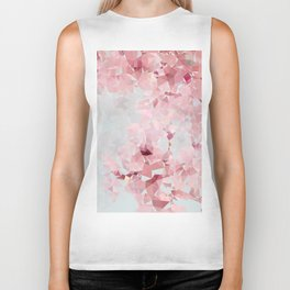 Meshed Up Sakura Blossoms Biker Tank