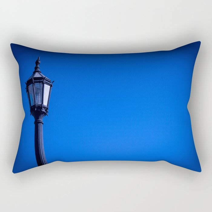 lamp over blue sky Rectangular Pillow