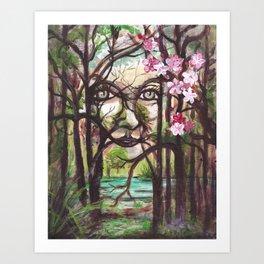 SPIRIT- Fantasy Art, Original Acrylic Painting. Art Print