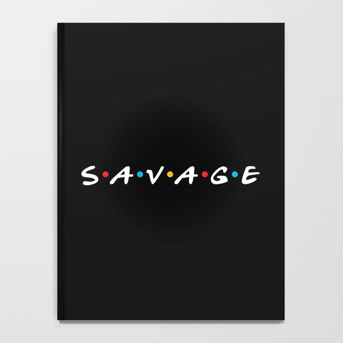 Savage Friends Logo - Black Notebook