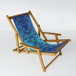 Deep blue glass mosaic Sling Chair