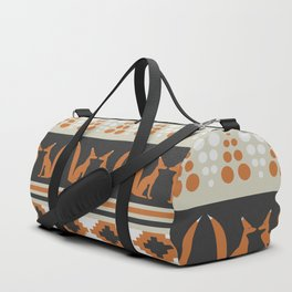 Foxes and ethnic shapes Duffle Bag