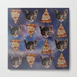 Kitten Pizza Galaxy  Metal Print