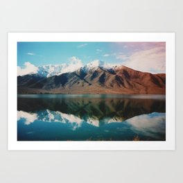 Film photo of New Zealand Glacier Landscape Art Print