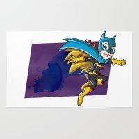 batgirl Area & Throw Rugs featuring Batgirl! by neicosta