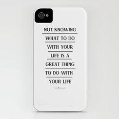Notknowing iPhone (4, 4s) Slim Case